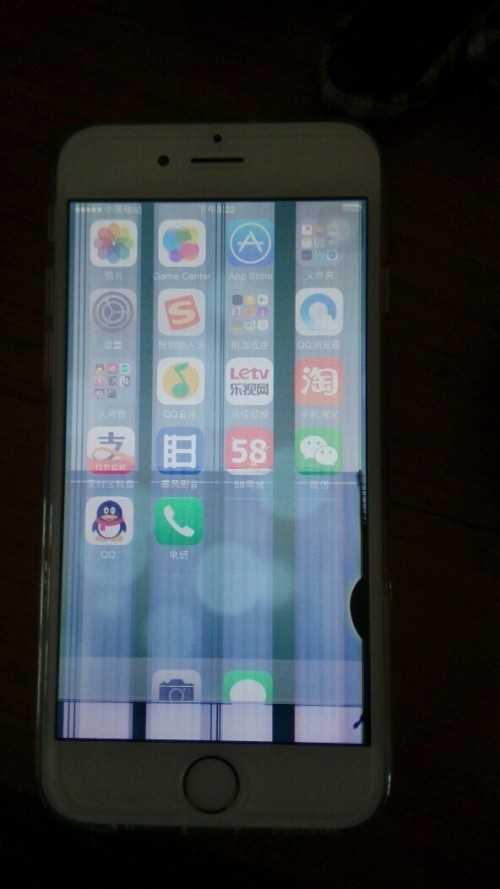 手机花屏显示竖条(彩色条纹是内屏碎了吗)