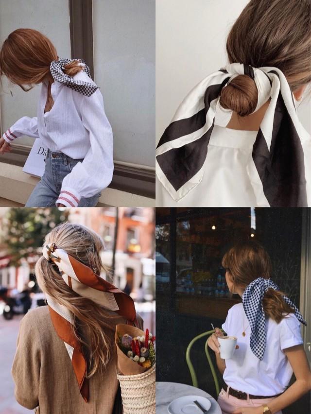 法式慵懒 好看的人都这么戴丝巾!