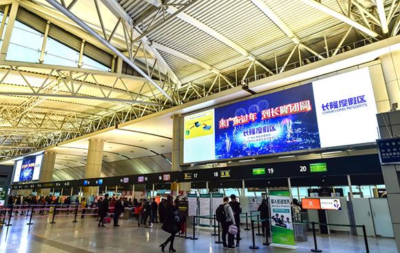 广州白云机场LED巨幕广告优势和价格