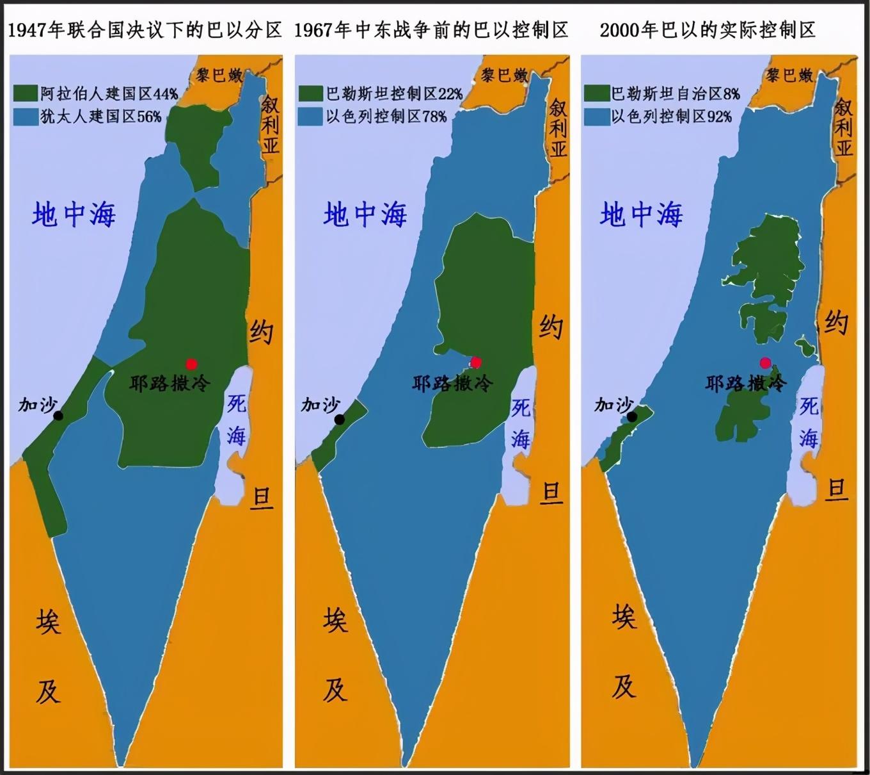 巴勒斯坦都快没了!全面解析,以色列领土扩张史