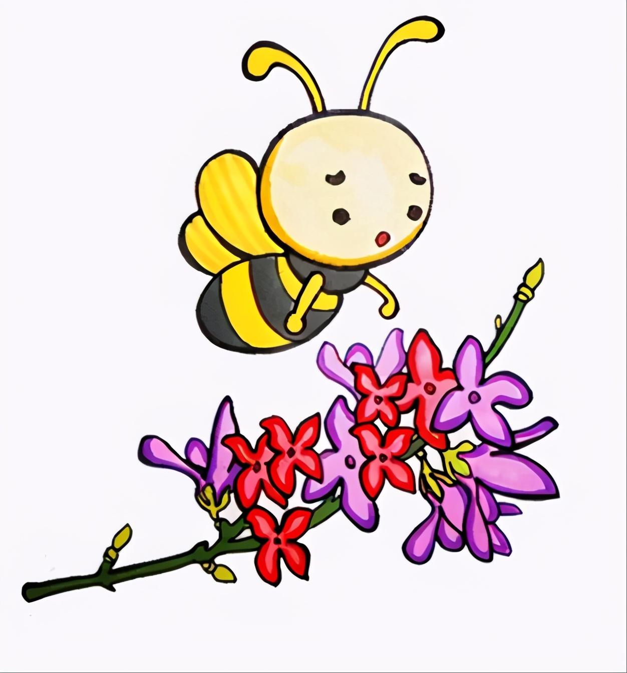 小蜜蜂简笔画怎么画