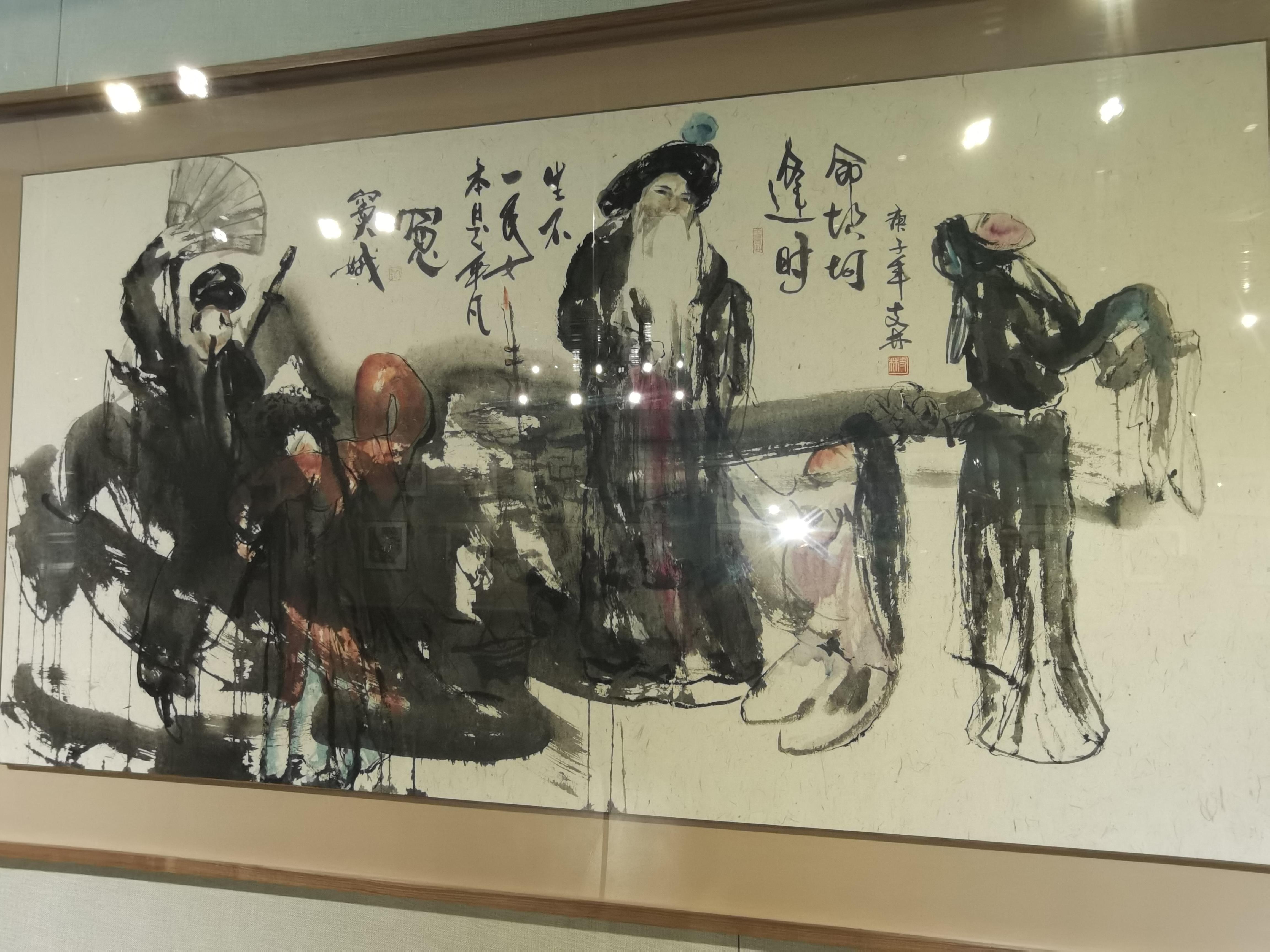 江西科技师范大学教师国画作品展开展 百余件国画亮相