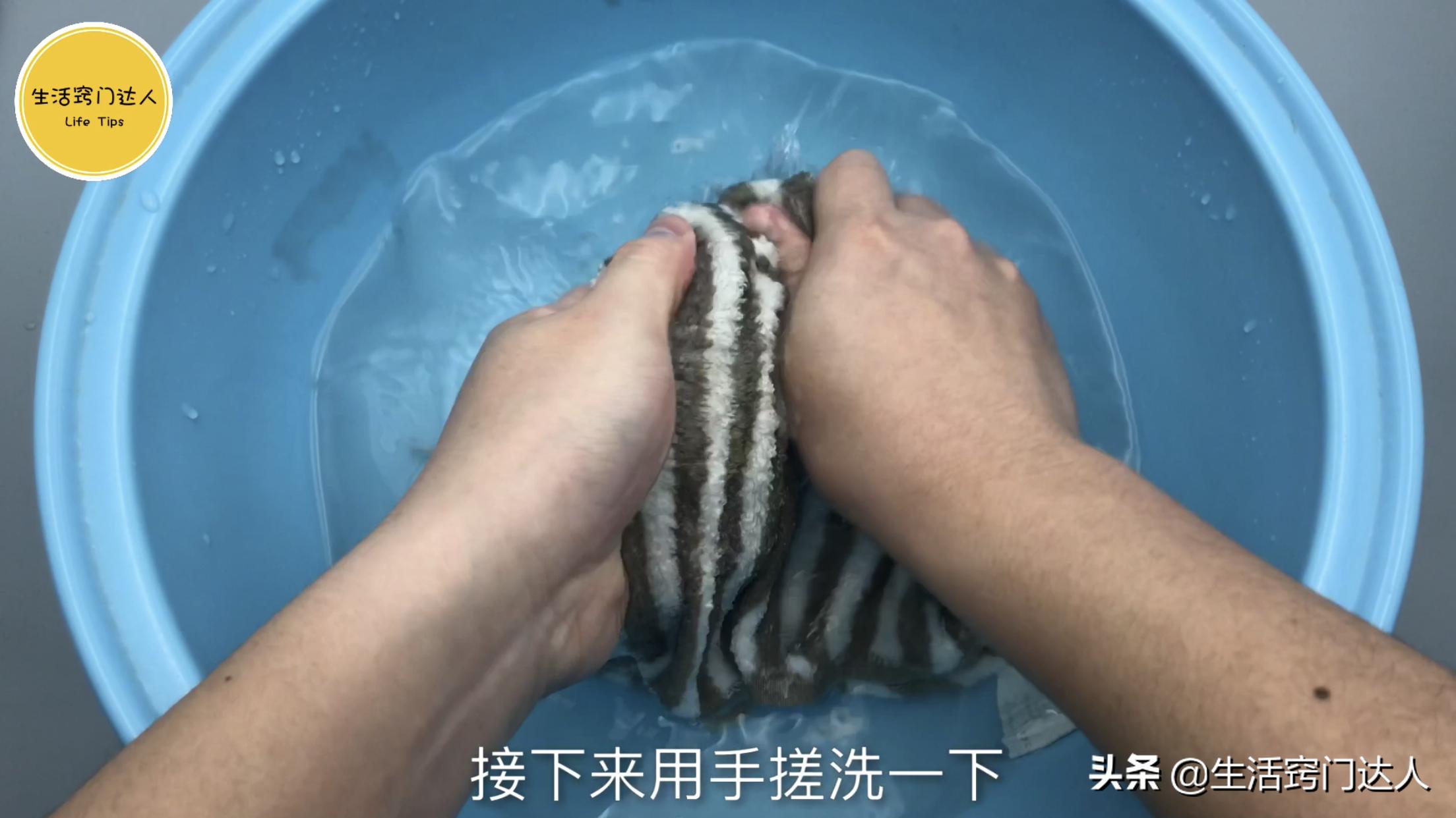 这是我见过洗毛巾最正确方法,简单又方便,多脏的毛巾也能洗干净 清洗毛巾 第7张