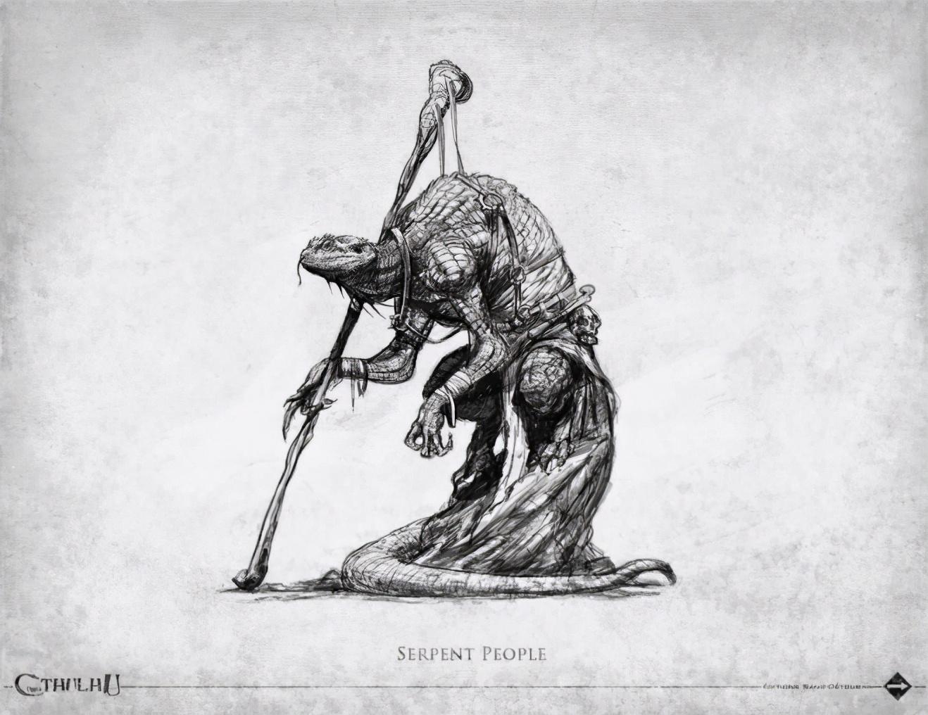 克苏鲁神话生物——蛇人