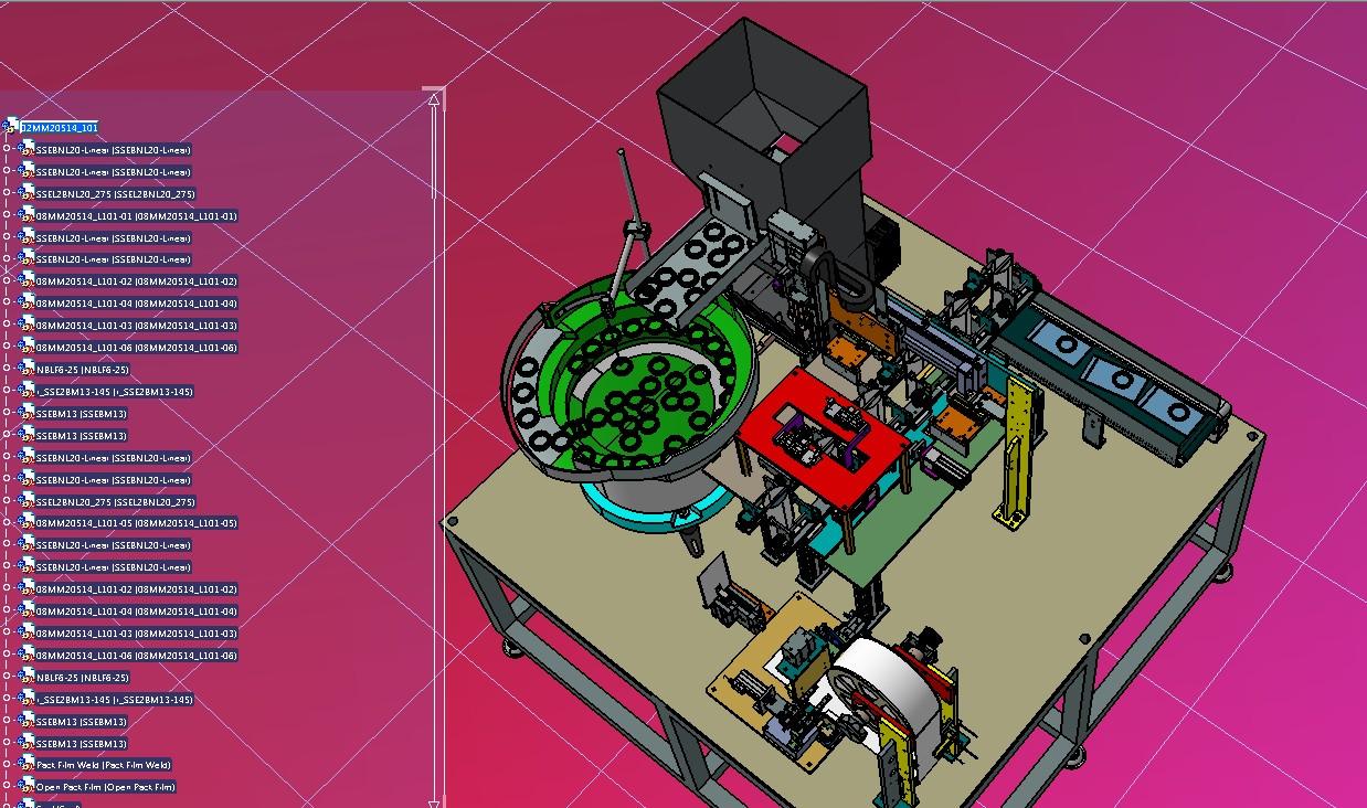 汽车油封塑料包装设备3D图纸 STEP格式