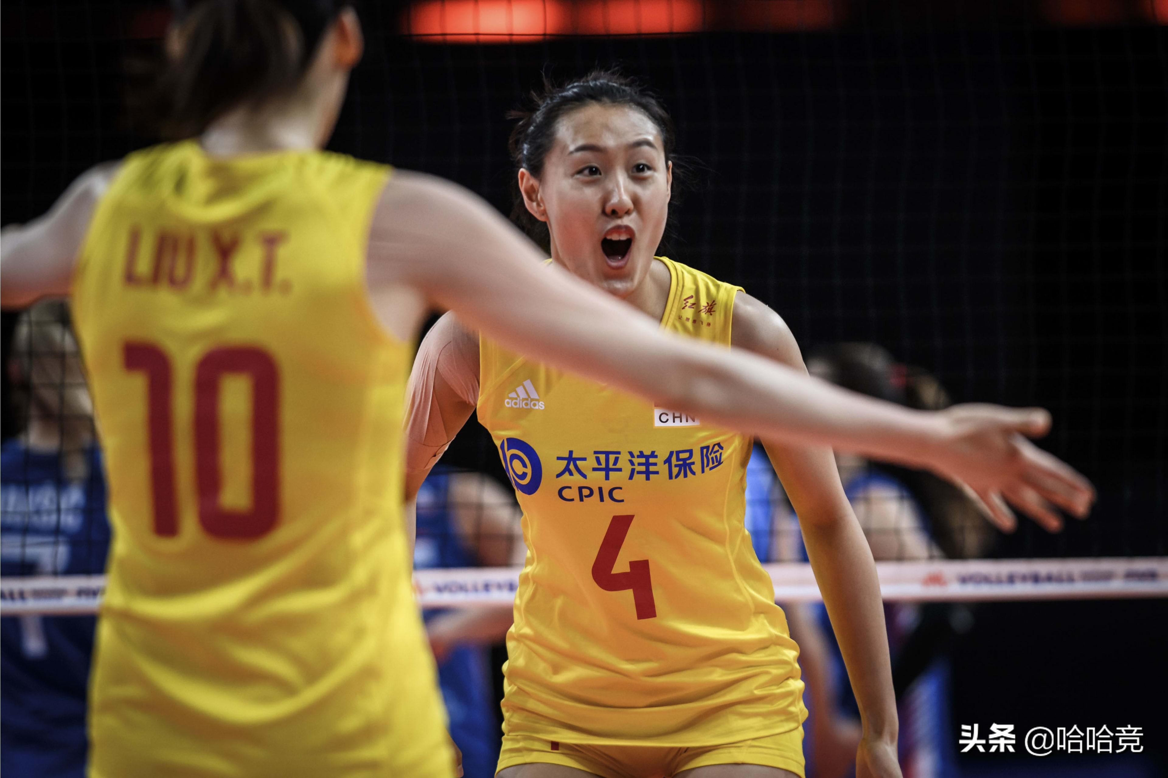 张常宁轮休中国女排1比3塞尔维亚,吞四连败,杨涵玉发球爆头队友