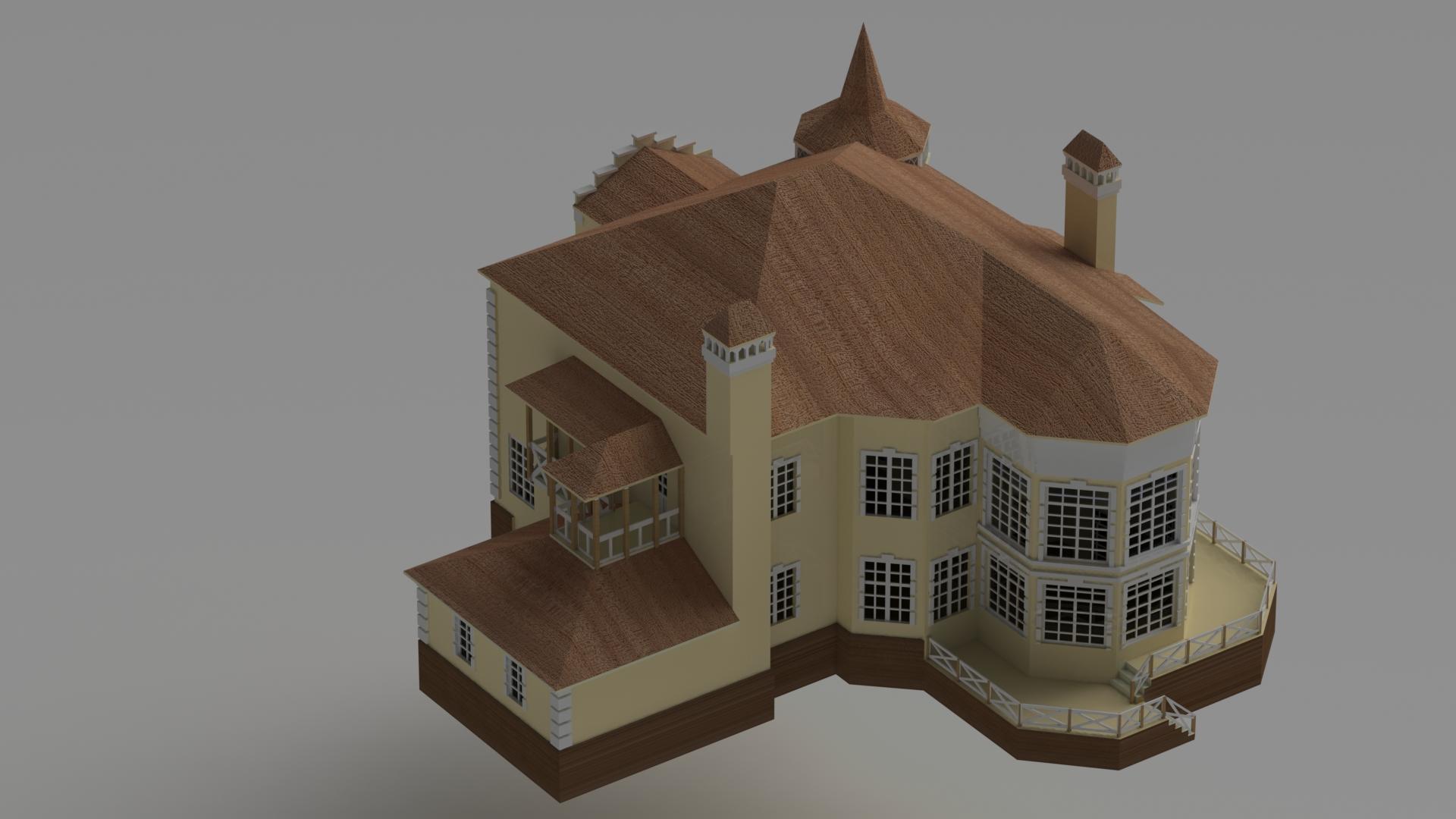 manor洋房别墅模型3D图纸 Solidworks设计 附STEP