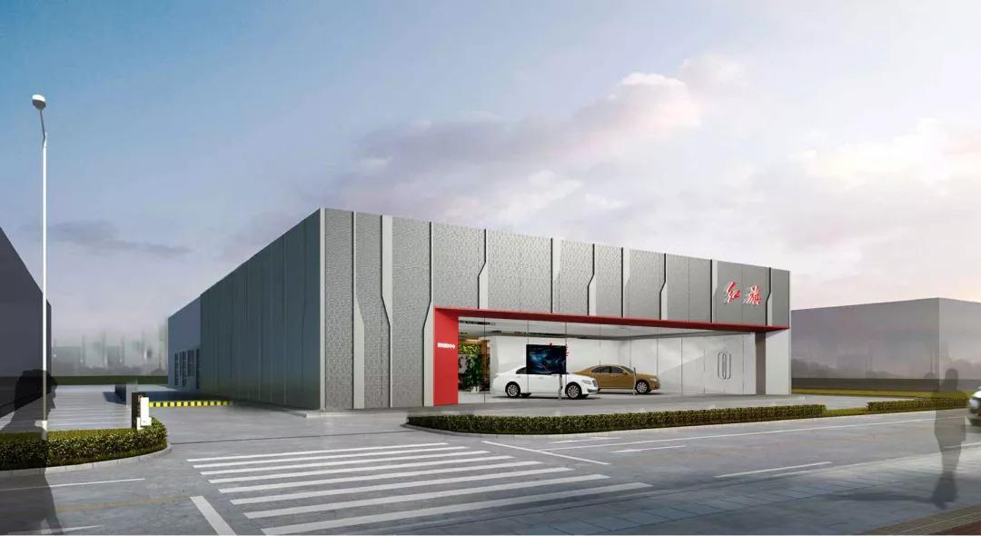 冲孔铝单板装修4S店外墙