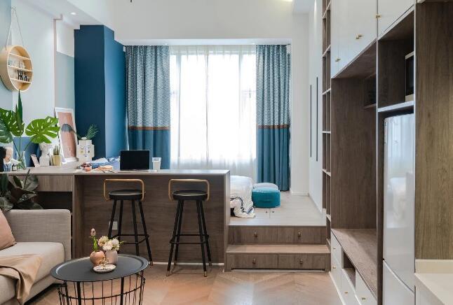 30岁女儿不想和父母同住,装修35㎡公寓,8W装出80平效果