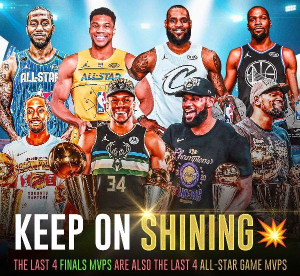美媒列出了最近四個賽季總決賽的MVP球員,小前鋒還能壟斷多久