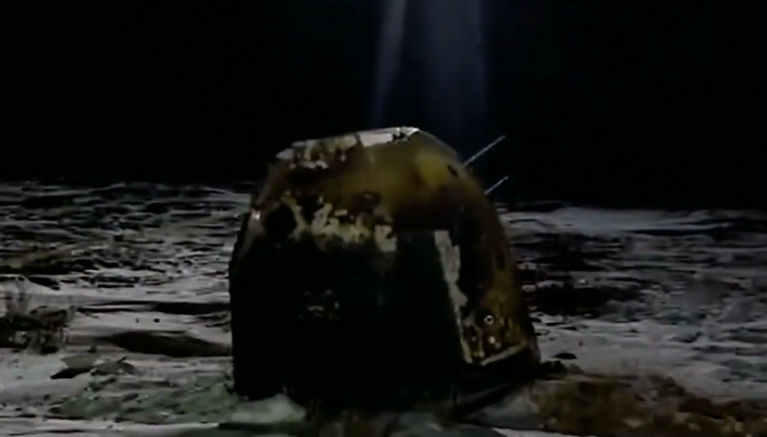 双语阅读:嫦娥五号返回器携带月球样品成功返回地球