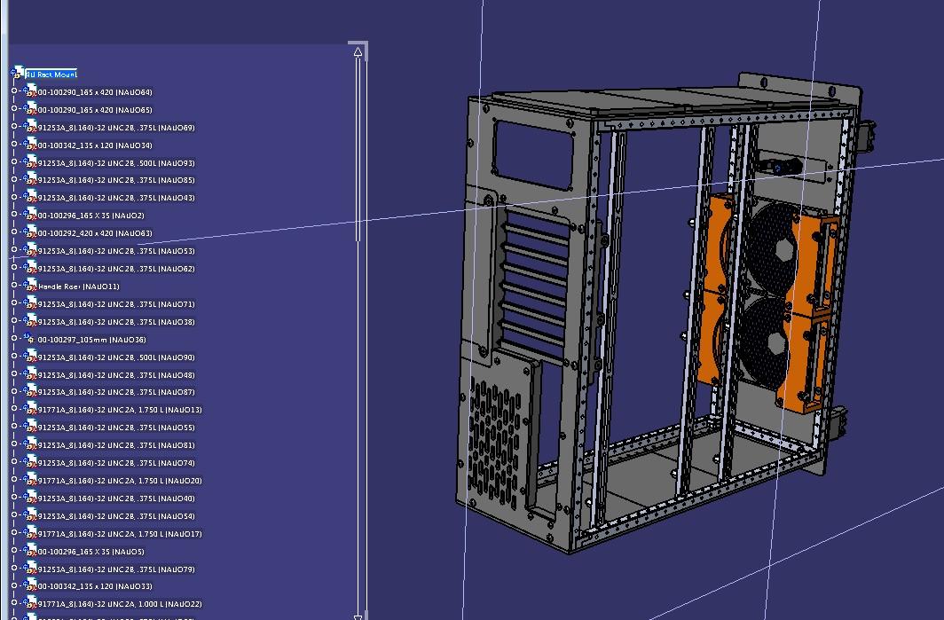 casemaker 4u机架机柜钣金结构3D图纸 STEP格式