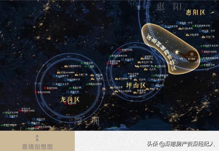 新力睿园地处惠州惠阳白云新城片区,距深圳仅1公里,