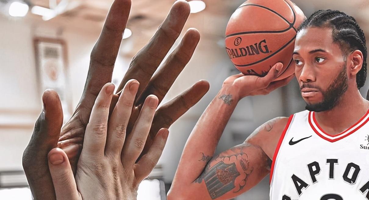 Leonard的手掌有多大?對比之後一目了然,連歐尼爾都只是險勝!