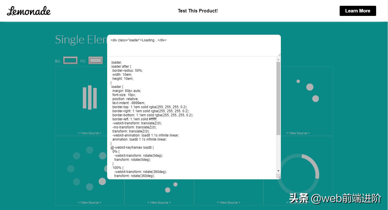超干货 CSS3/SVG Loading动画集合