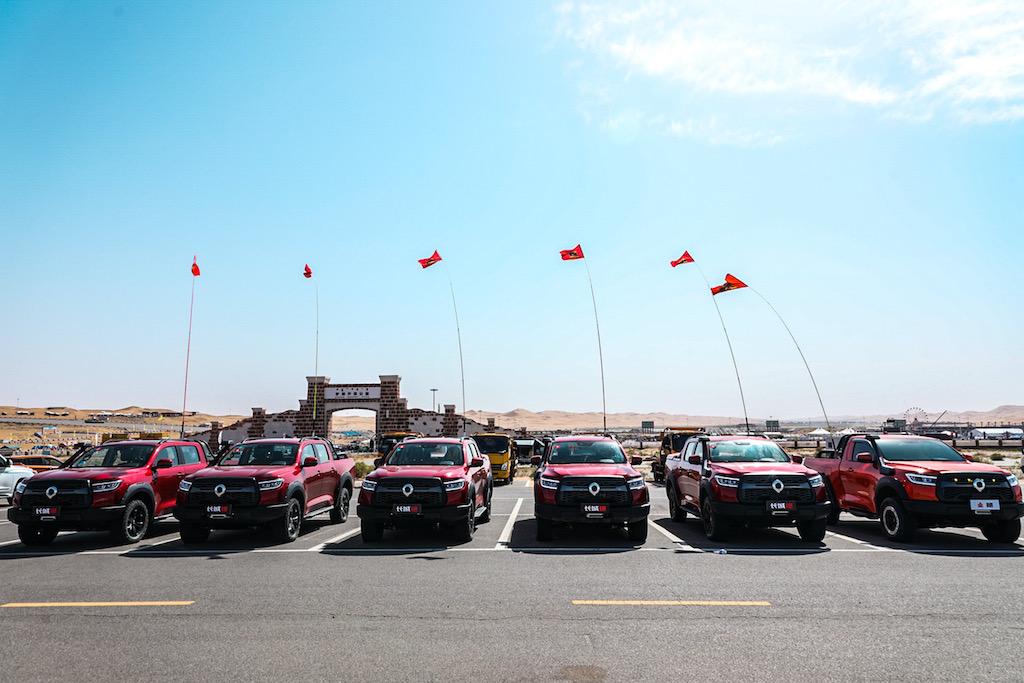 黑弹、旅装炮正式交车 长城炮阿拉善玩转皮卡车生活