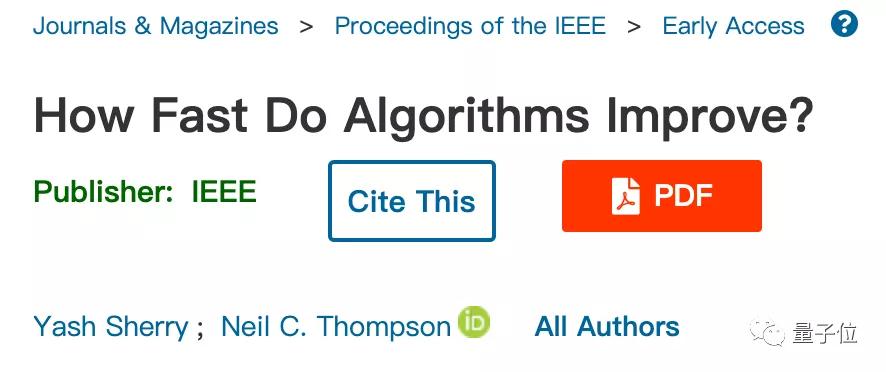 MIT证明:解决超大规模问题,算法比硬件更有用