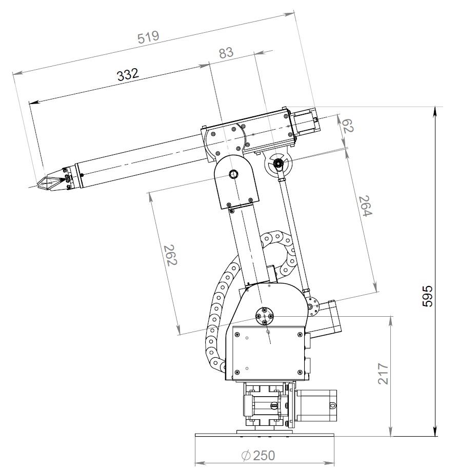 PASKAL DELTA 五轴机械臂模型3D图纸 STEP格式