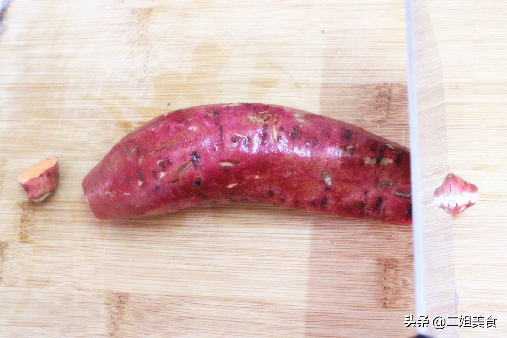 蒸红薯,牢记别直接上锅蒸了,多做2步,红薯香甜鲜嫩,真好吃