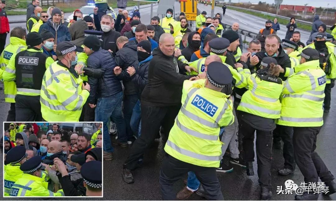封城第四天,英国警察和司机打起来了