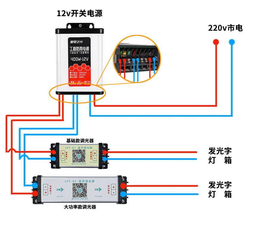 LED�{光器怎么接�?