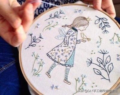 喜欢刺绣的不要错过了,15种基础刺绣针法,学会了什么都能绣
