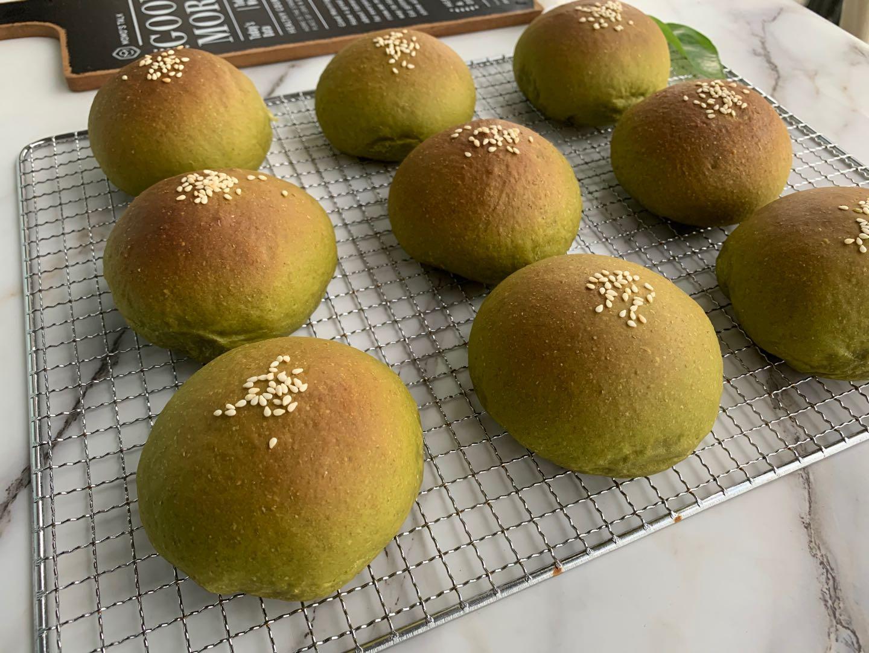 抹茶麻薯古早味面包做法步骤图  柔软香甜又拉丝