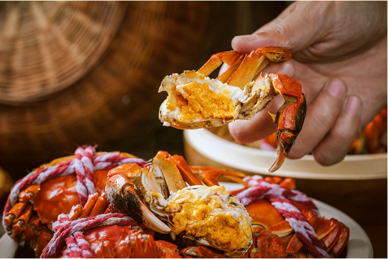 阳澄湖莲花岛的老同蟹,膏肥肉甜一口就销魂
