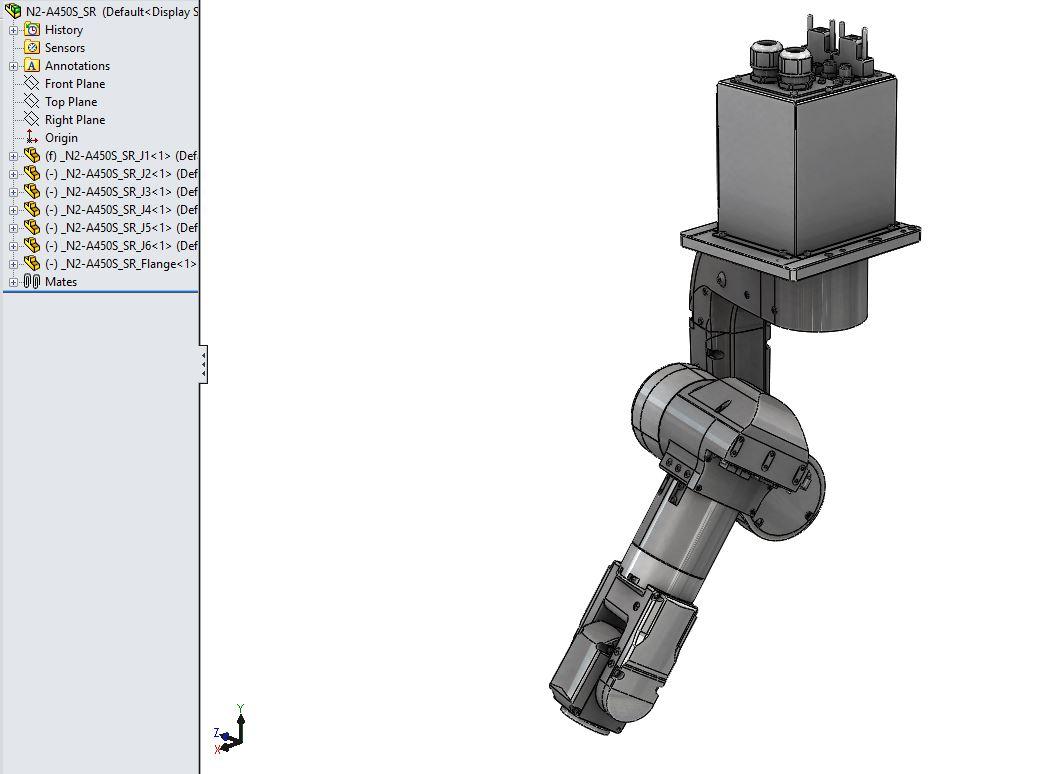 Epson Flexion N2 a450s机械臂3D数模图纸 Solidworks设计