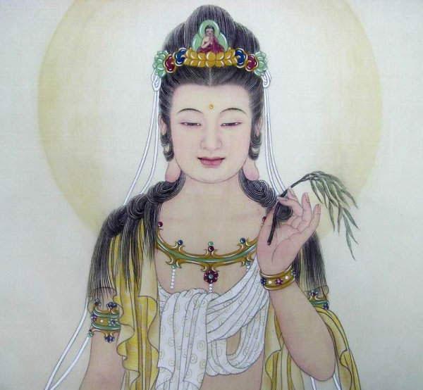 观音菩萨为什么头顶阿弥陀佛像?