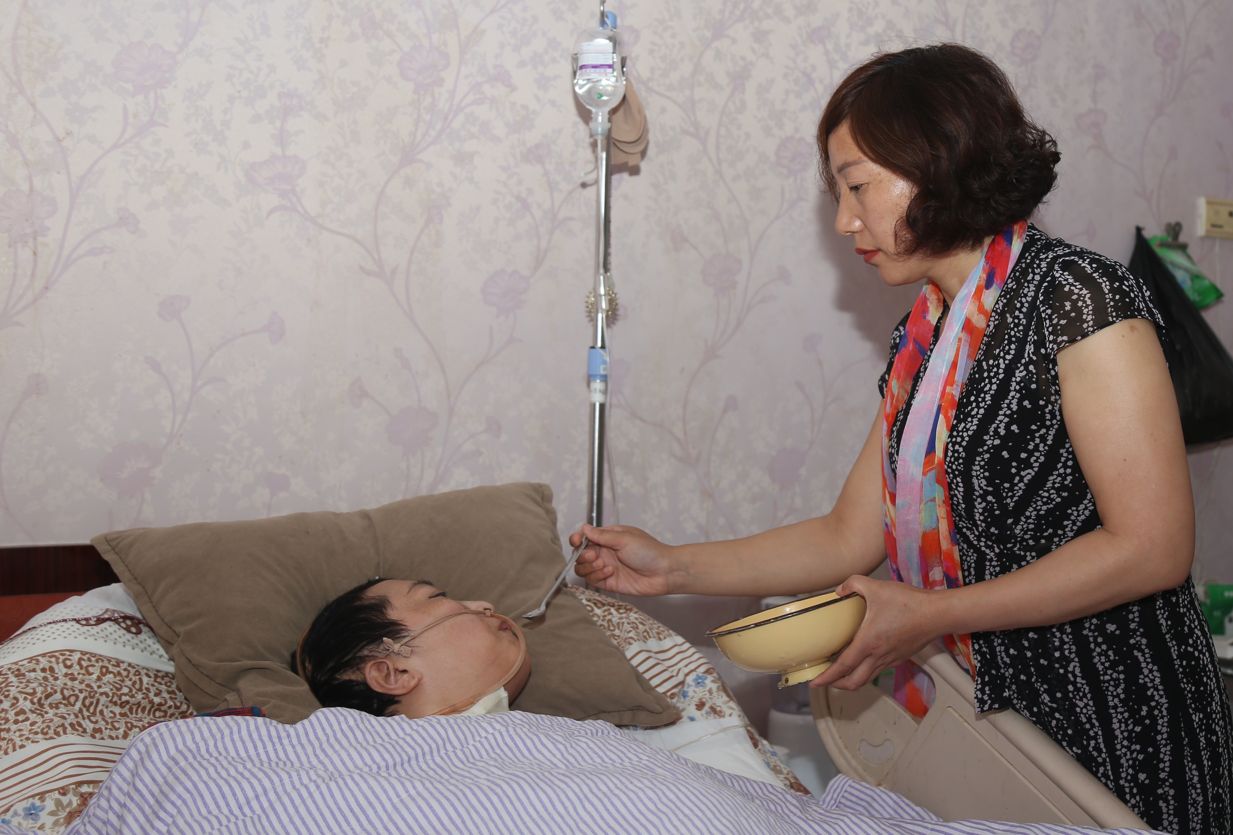 河南杞县:集中供养老人笑声朗