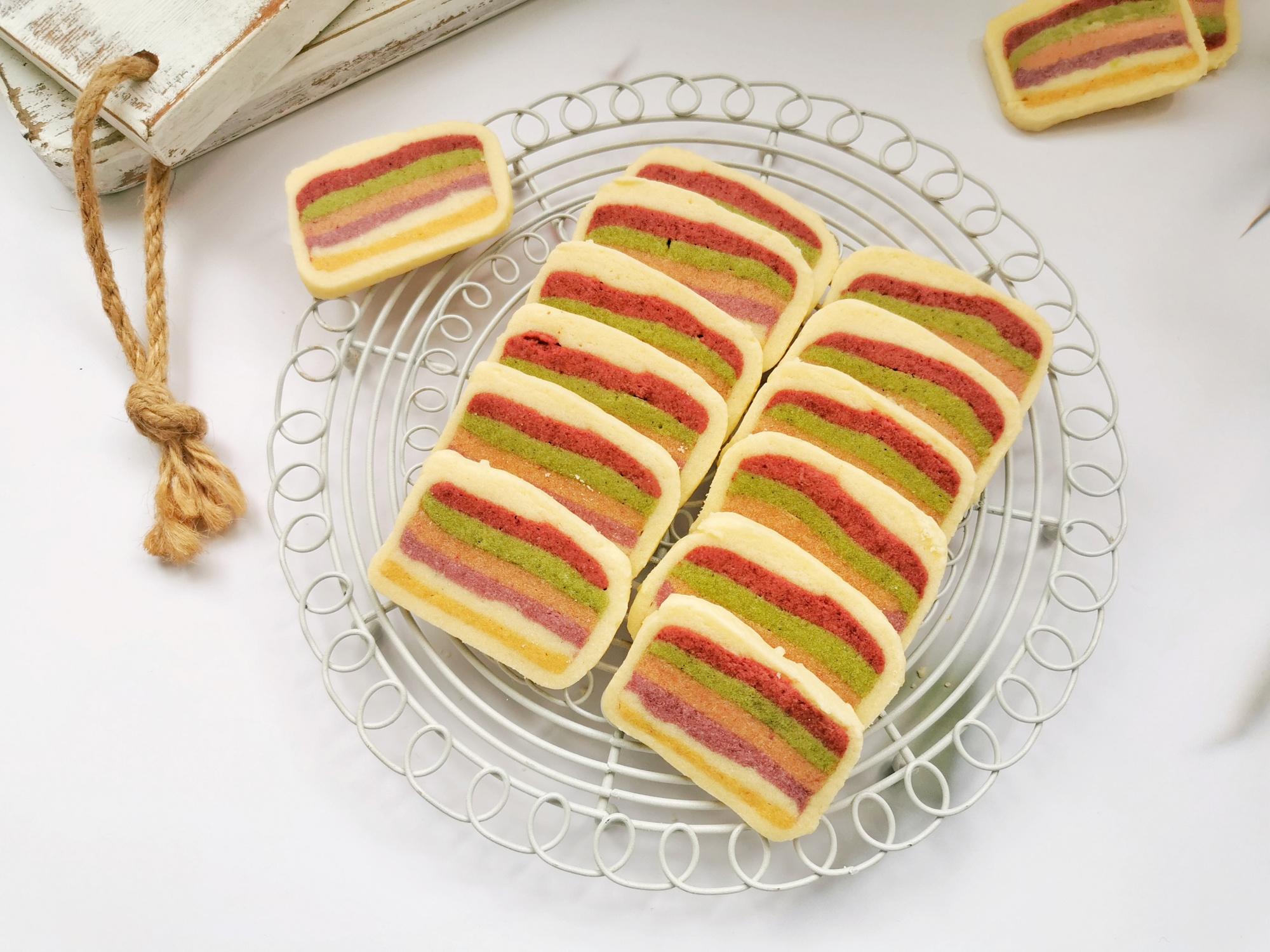高顏值彩虹曲奇,兒童節有了它,其他禮物靠邊站,比做饅頭還簡單