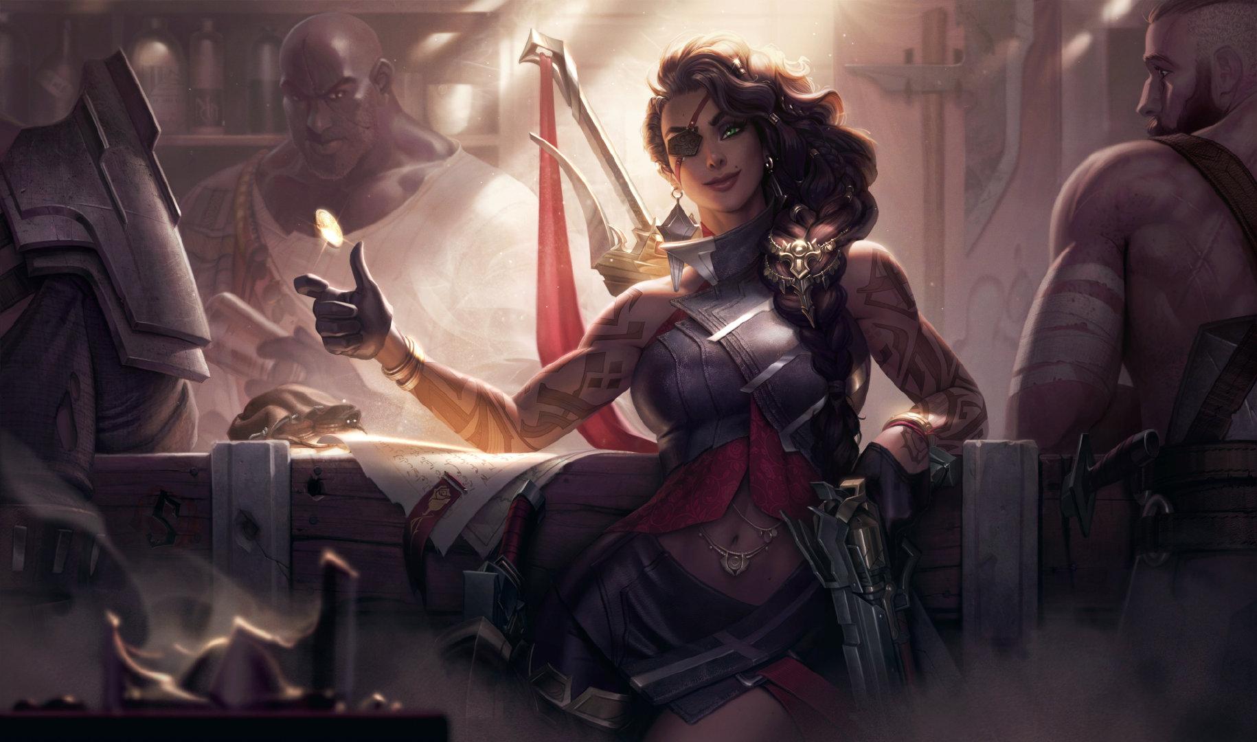 LOL:沙漠玫瑰莎弥拉玩法解析,残局收割能力堪比刺客