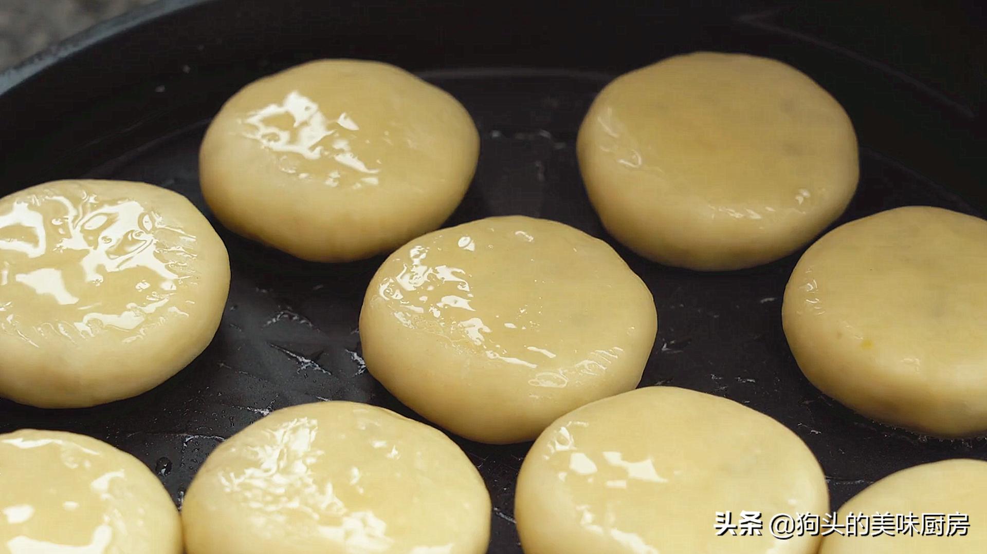 不做酥皮不用烤箱就能做的绿豆饼,清甜不油腻,比外面买的还好吃 美食做法 第16张