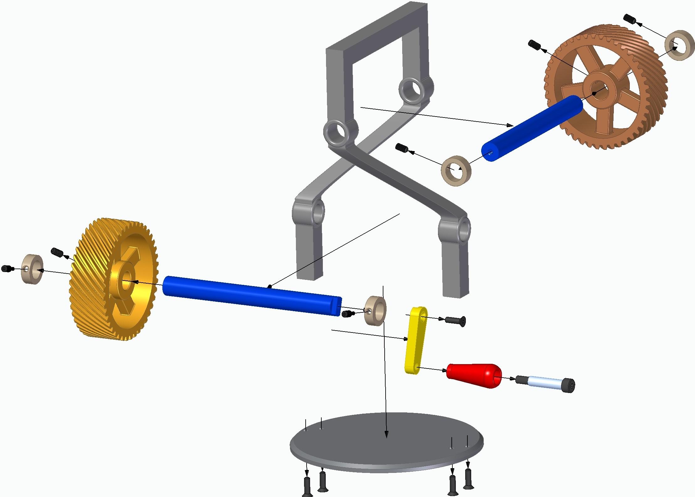 helical gears斜齿轮传动机构3D打印图纸 STL格式