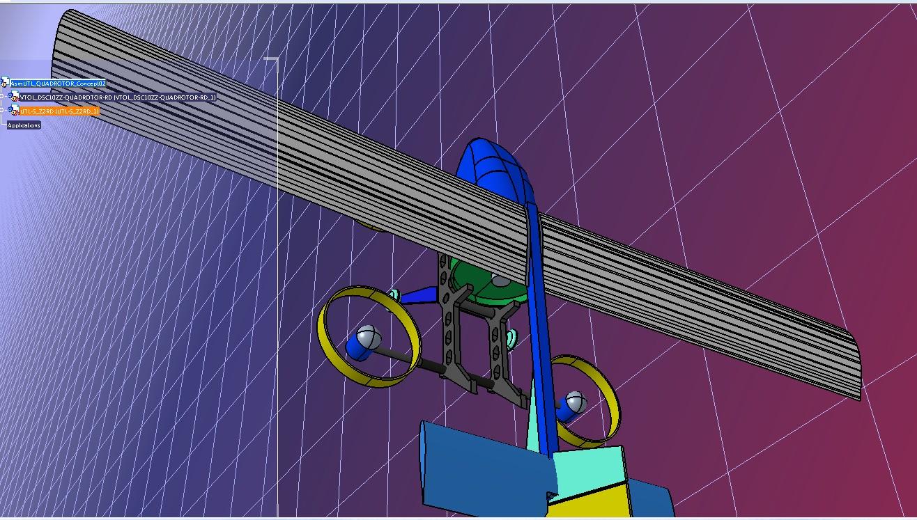 Z-Drone四轴概念飞行器模型3D图纸 STP格式
