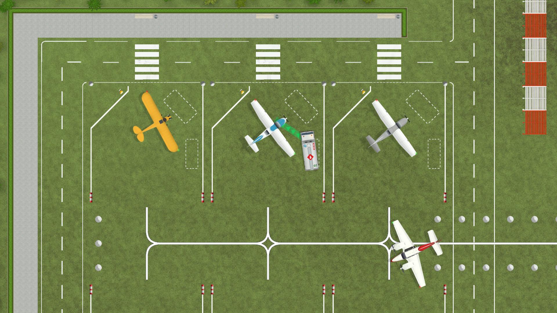 一款机场题材的模拟经营建造游戏