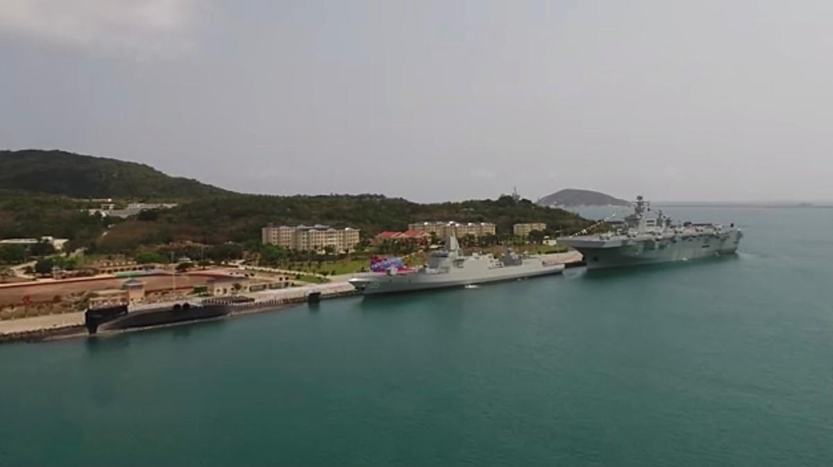 075首舰海南交付,美国挑衅被打脸,马金岛号两攻关岛按兵不动