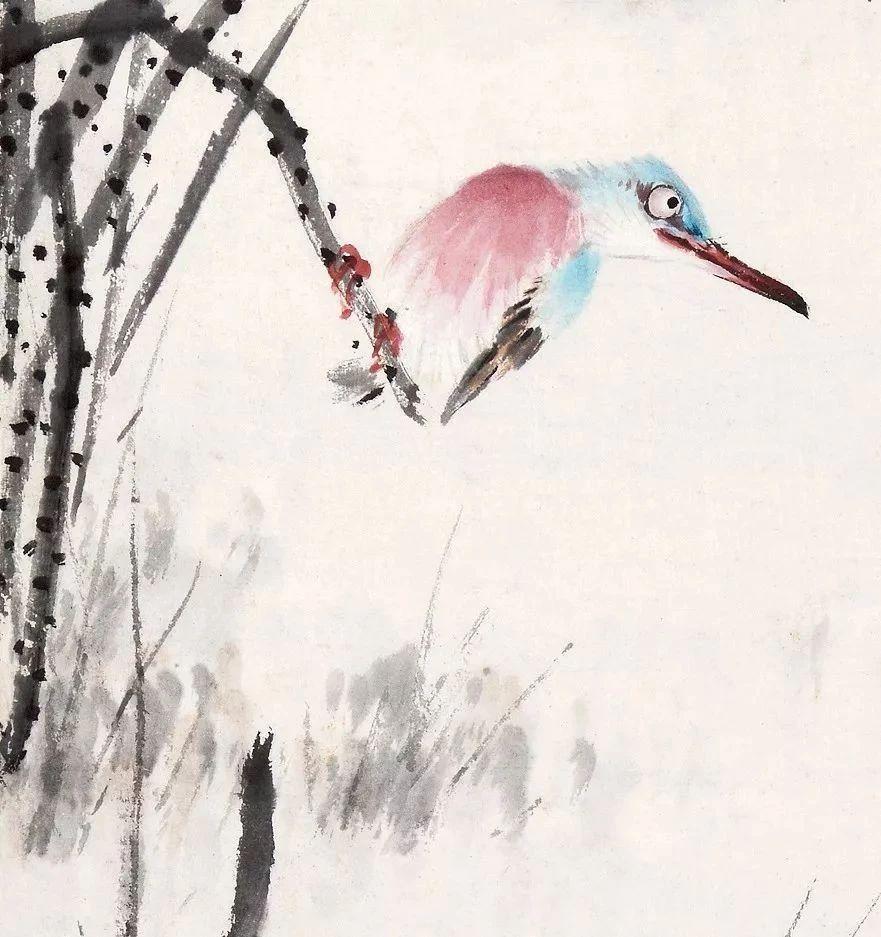 把鸟画活力鸟就不仅仅是一个点缀,而成为一幅画面当中的点睛之笔