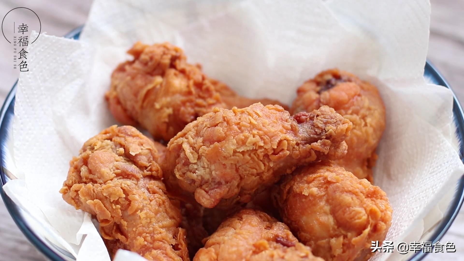 家庭版自制炸鸡腿,颜值与味道并存,过年来招待客人倍有面子