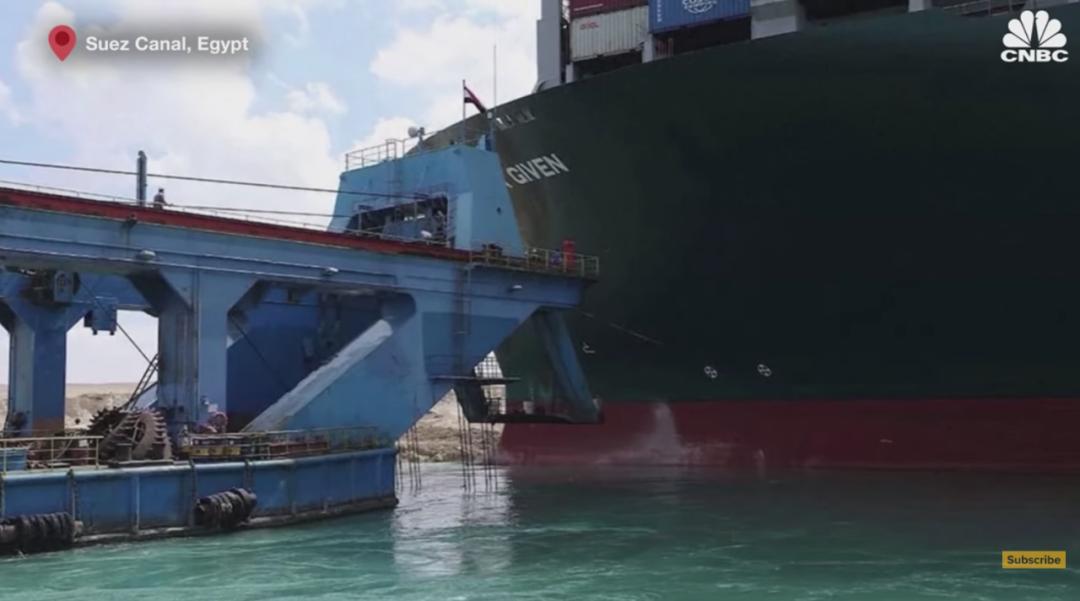 """超大货轮在苏伊士运河""""卡脖子"""",将给全球贸易""""添堵""""多久?"""