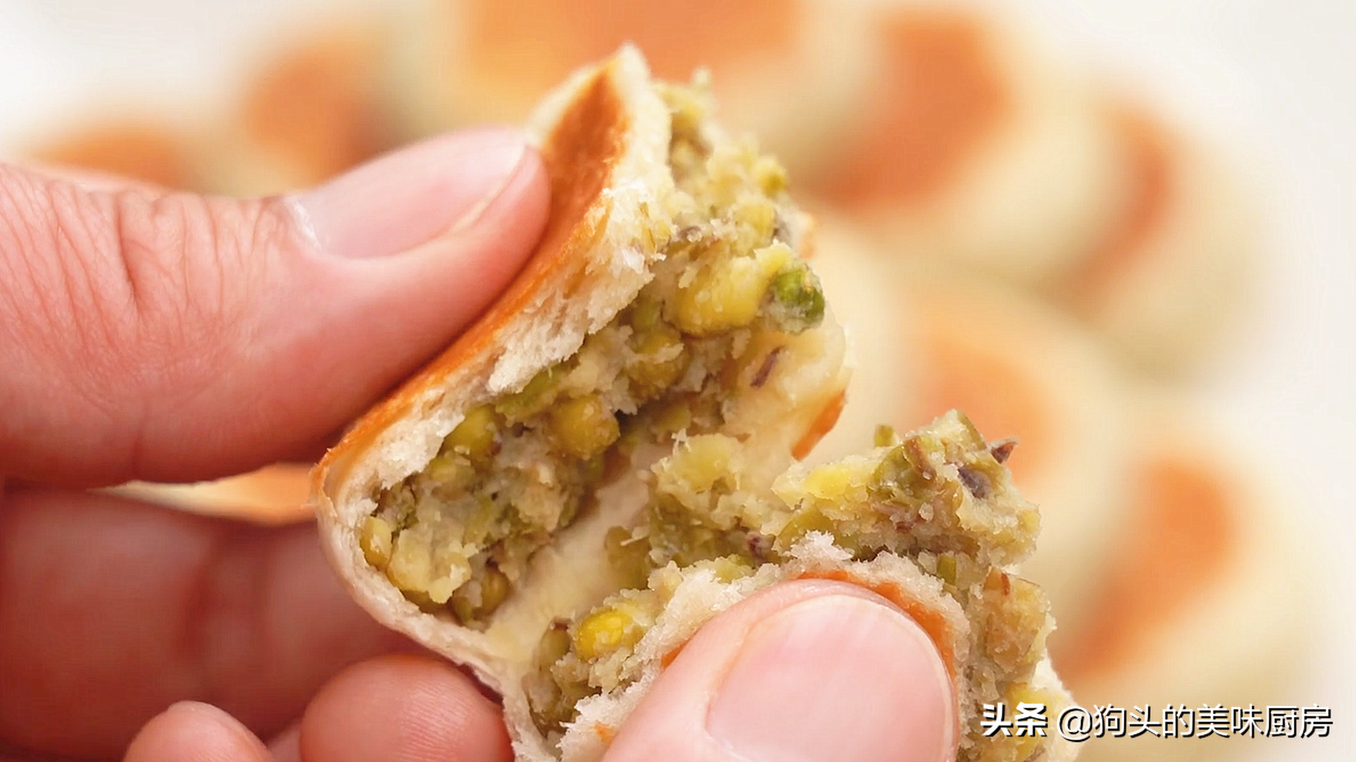 不做酥皮不用烤箱就能做的绿豆饼,清甜不油腻,比外面买的还好吃 美食做法 第3张