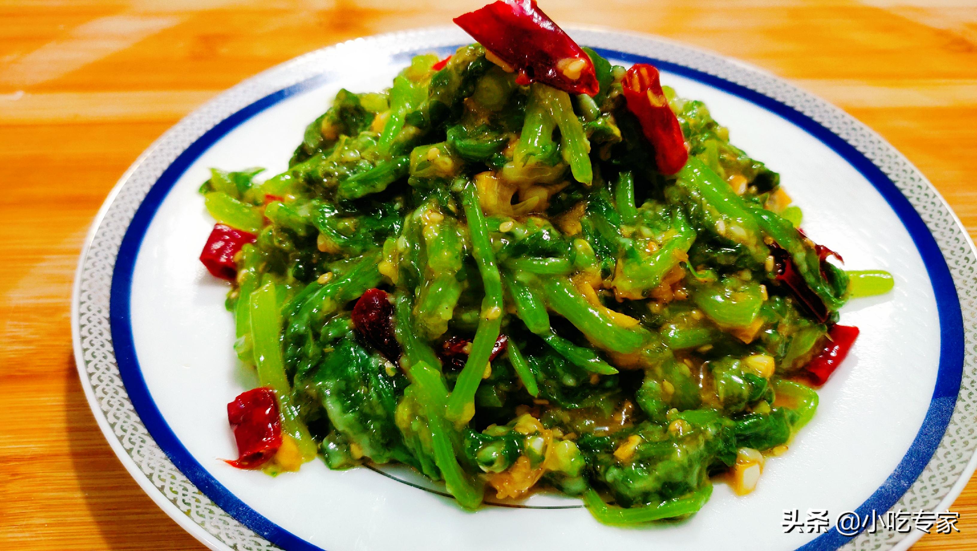 这才是茼蒿最简单美味的做法,香辣爽口,堪称下饭家常菜