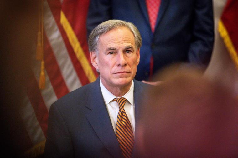 美国得州州长阿伯特新冠病毒检测结果呈阳性
