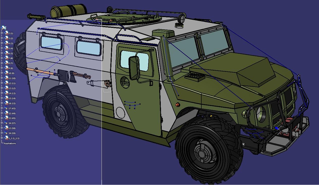 虎式GAZ-233014型突击车模型3D图纸 STP格式