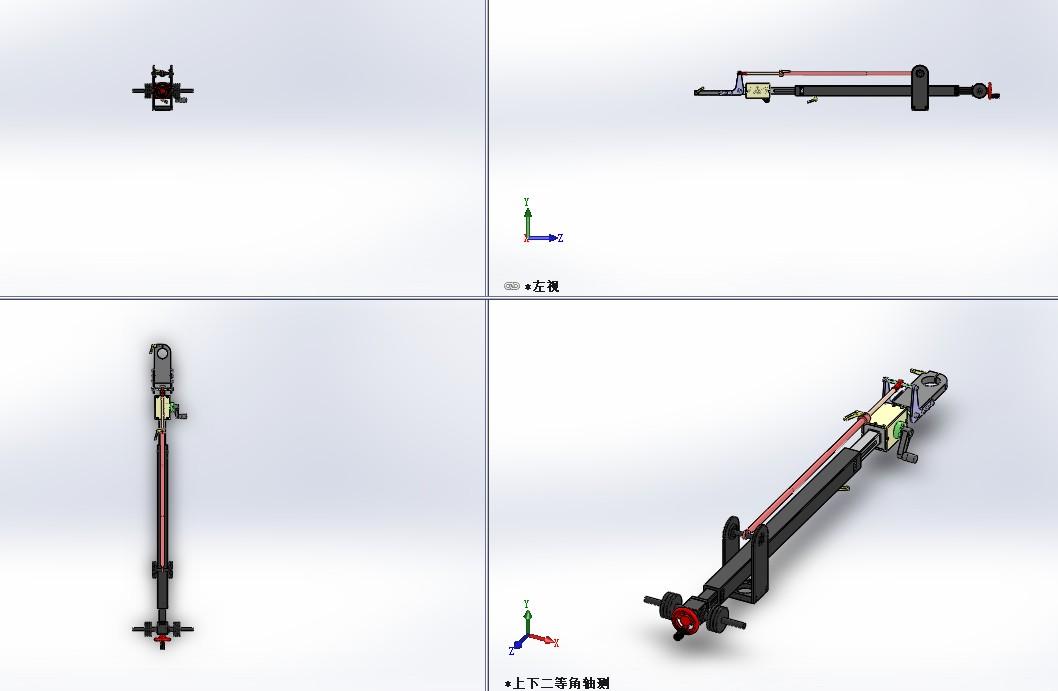 摄像机臂概念模型3D图纸 Solidworks设计