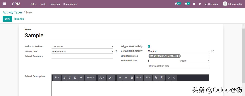 Odoo14免费开源ERP实施指南:CRM功能应用篇(1)
