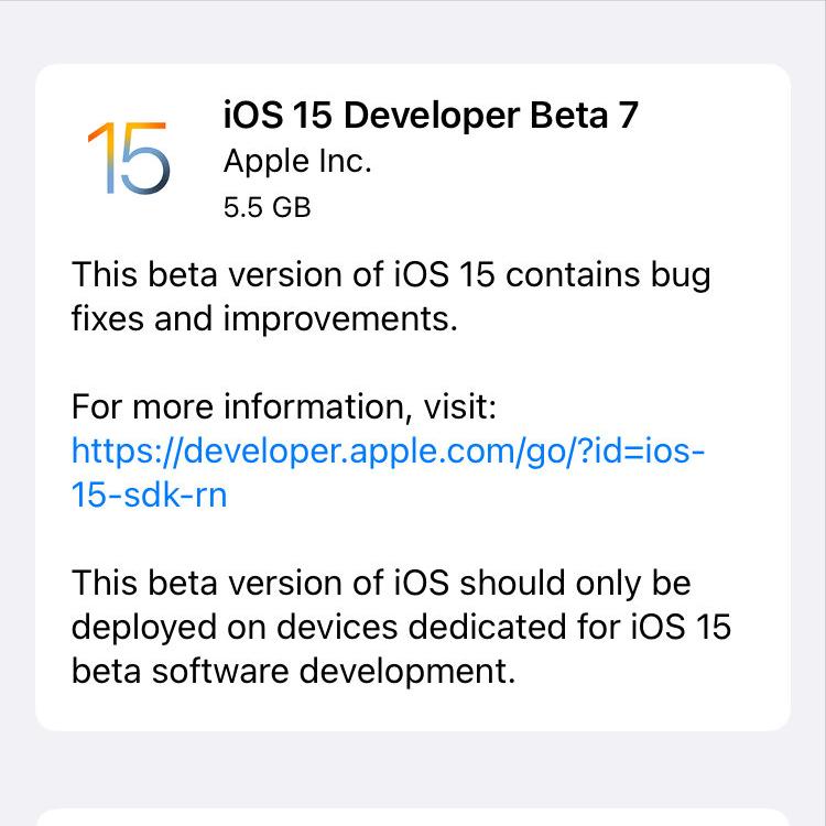 iOS15Beta7用户评价出炉:建议小容量用户慎更