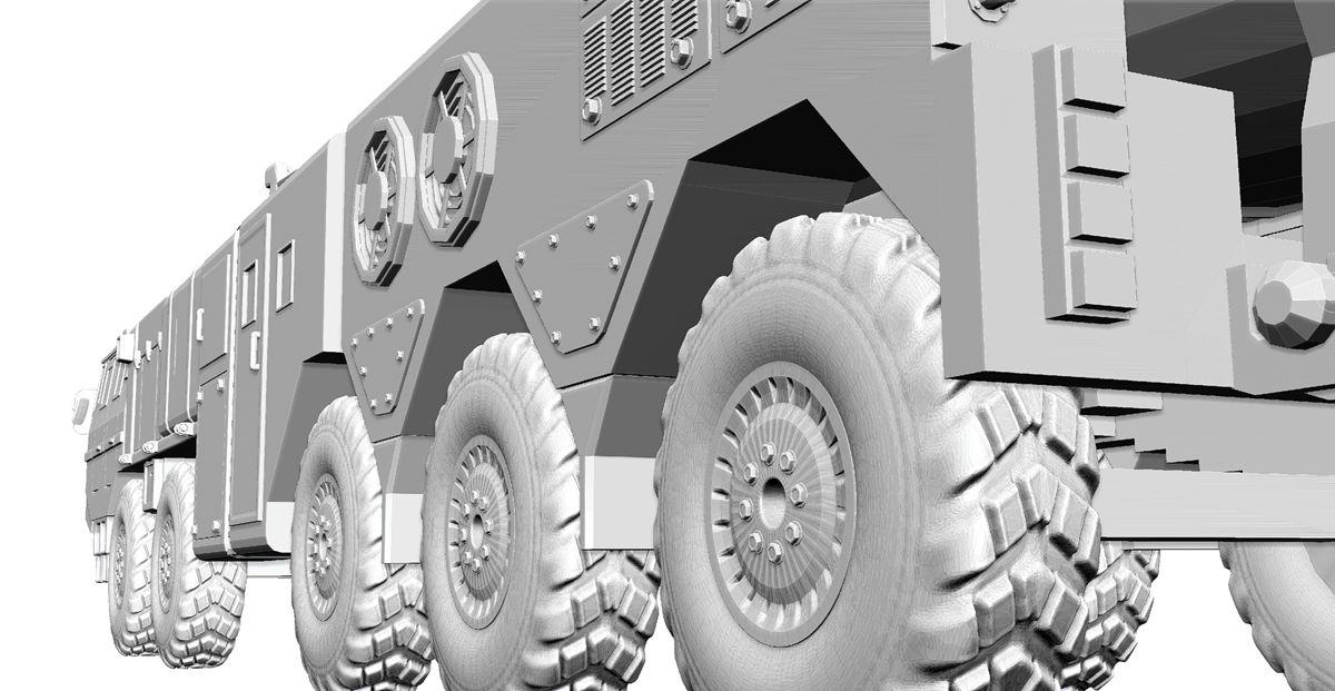 东风21导弹简易模型3D打印图纸 STL格式