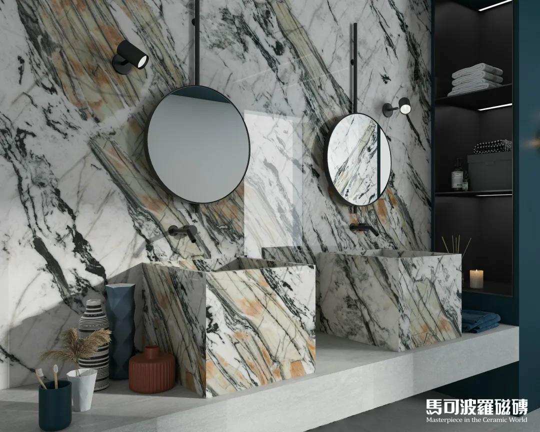 惊呆了,原来马可波罗瓷砖AI随机无限连纹空间那么美